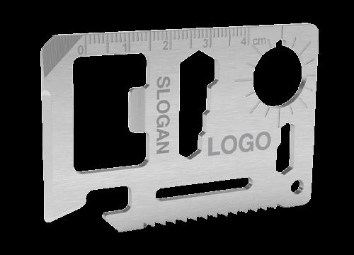 Kit - Strumento multiuso carta di credito personalizzato a laser