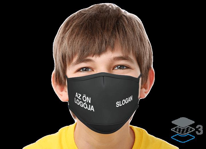 Junior - Egyéni újrahasználható szájmaszkok