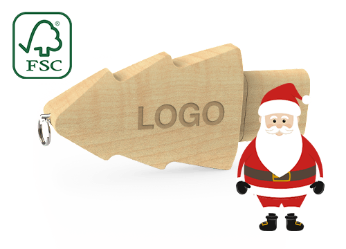 Christmas - Egyéni karácsonyfa USB-flash-meghajtó