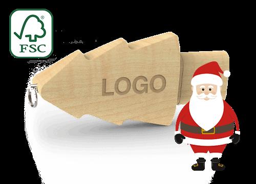Christmas - Személyre szabott karácsonyfa USB-meghajtók